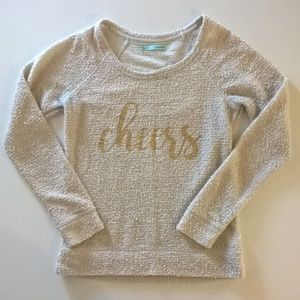 maurices sweater size madium cream gold cheers